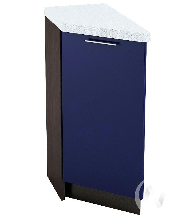 """Кухня """"Валерия-М"""": Шкаф нижний торцевой 300, ШНТ 300 (Синий глянец/корпус венге)"""
