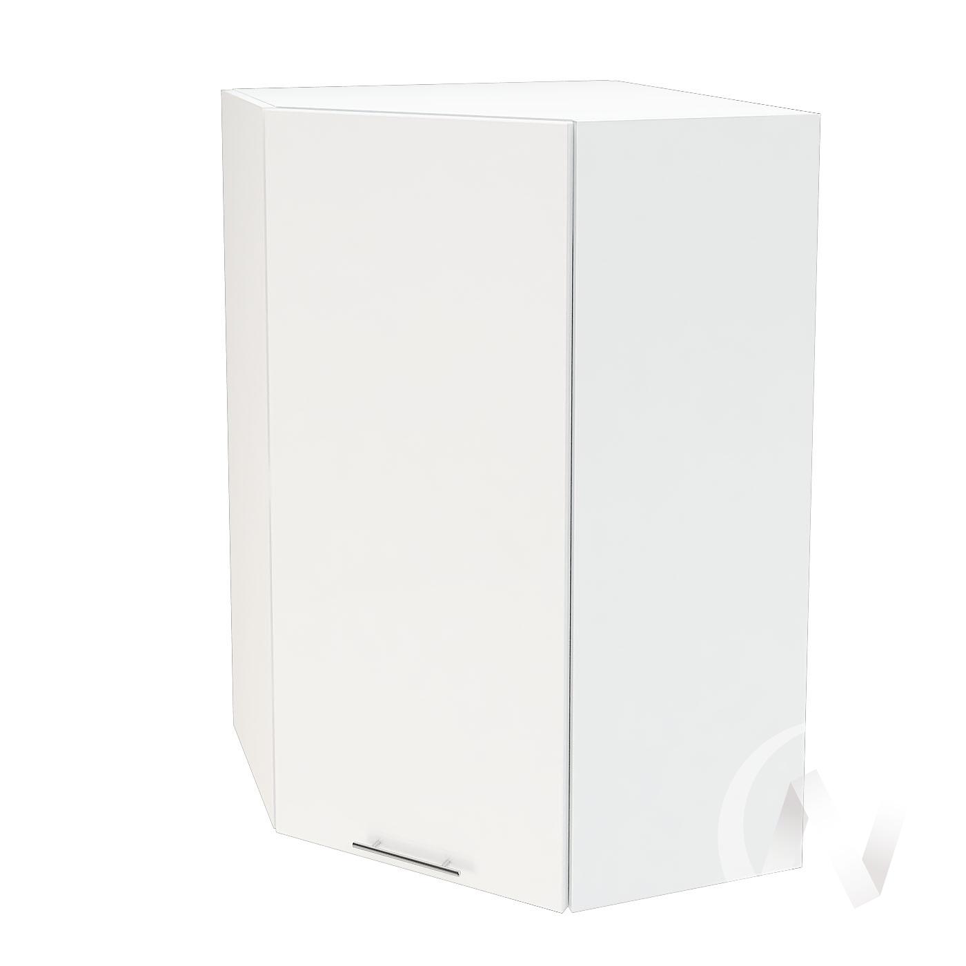 """Кухня """"Валерия-М"""": Шкаф верхний угловой 599, ШВУ 599 (белый глянец/корпус белый)"""