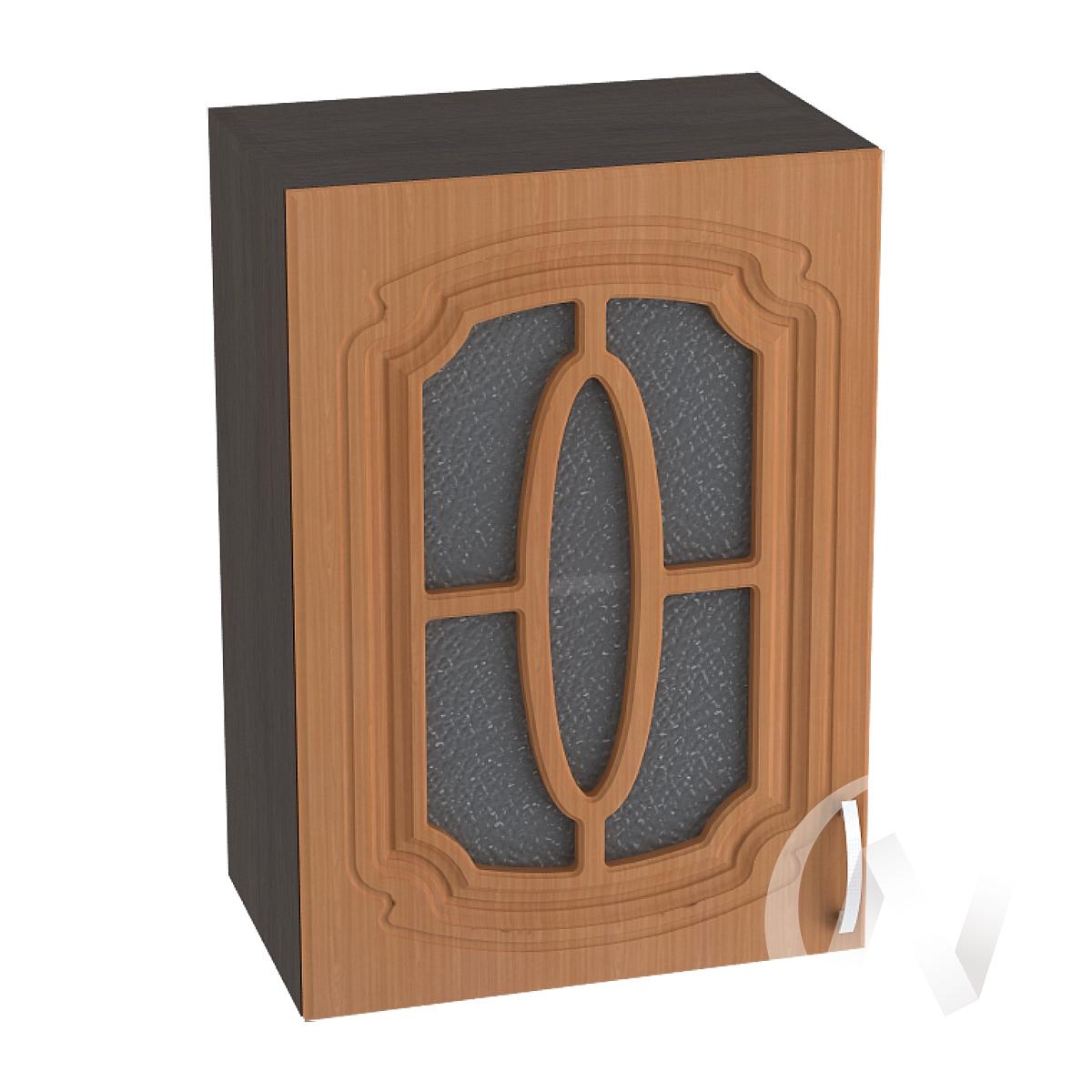 """Кухня """"Настя"""": Шкаф верхний со стеклом 500, ШВС 500 (Орех миланский/корпус венге)"""