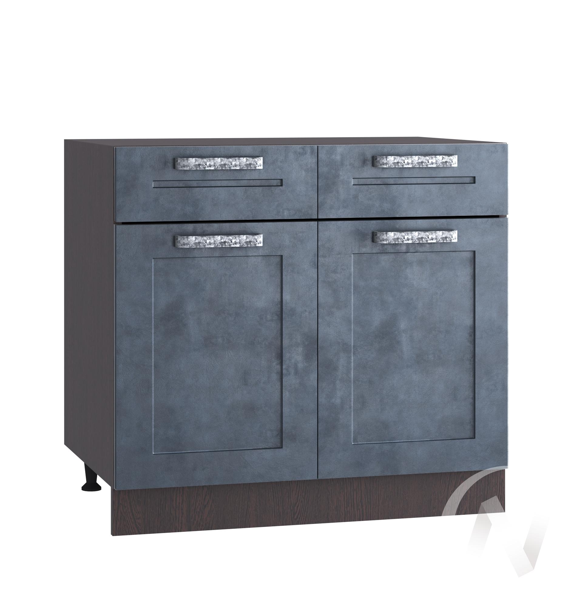 """Кухня """"Лофт"""": Шкаф нижний с ящиками 800, ШН1Я 800 (Бетон графит/корпус венге)"""
