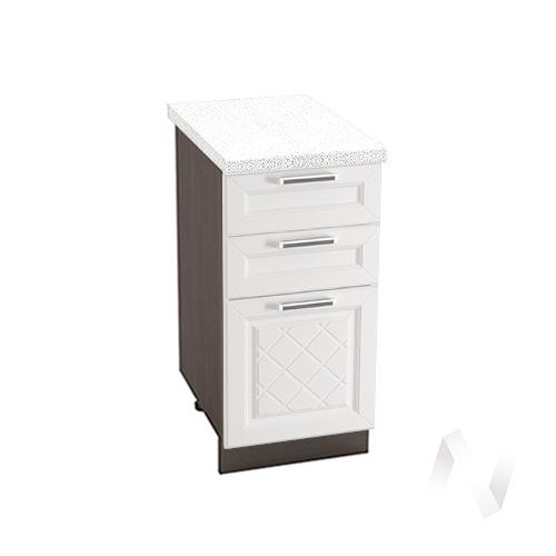 "Кухня ""Вена"": Шкаф нижний с 3-мя ящиками 400, ШН3Я 400 (корпус венге)"