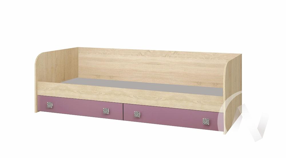 Кровать с ящиками Детская Колибри (дуб сонома/виола)