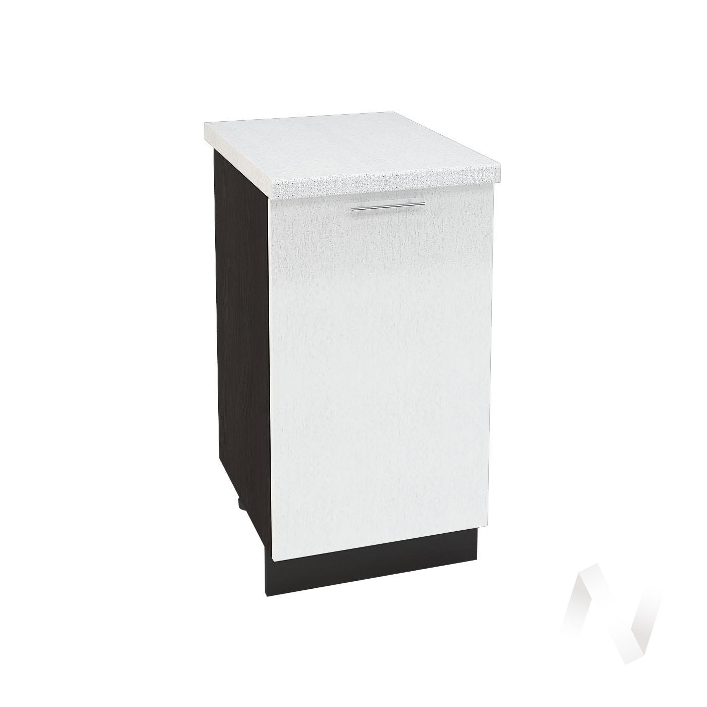 "Кухня ""Валерия-М"": Шкаф нижний 450, ШН 450 (Страйп белый/корпус венге)"