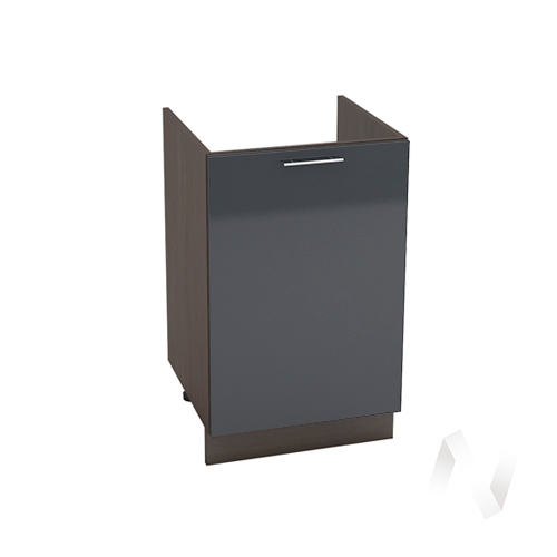 "Кухня ""Валерия-М"": Шкаф нижний под мойку 500, ШНМ 500 (Антрацит глянец/корпус венге)"