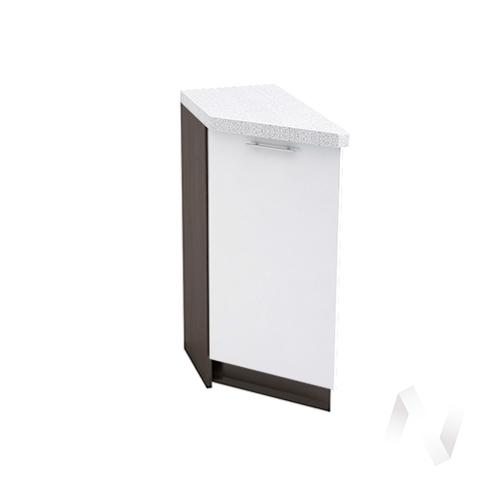"""Кухня """"Валерия-М"""": Шкаф нижний торцевой 300, ШНТ 300 (белый металлик/корпус венге)"""