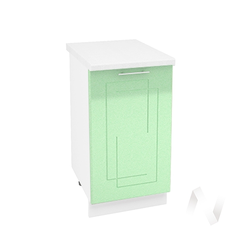 "Кухня ""Вега"": Шкаф нижний 450, ШН 450 (салатовый металлик/корпус белый)"