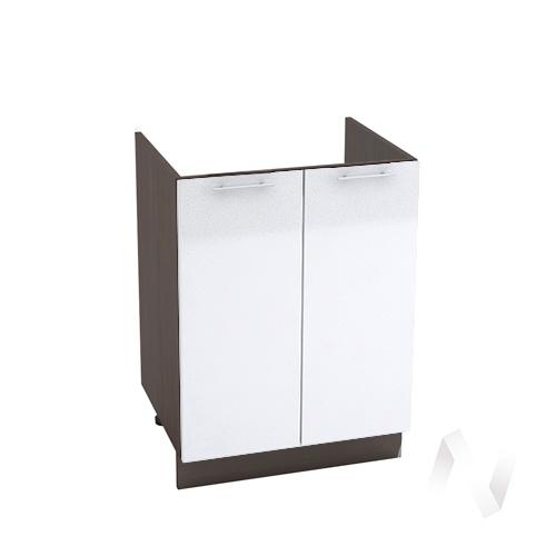 "Кухня ""Валерия-М"": Шкаф нижний под мойку 600, ШНМ 600 (белый металлик/корпус венге)"