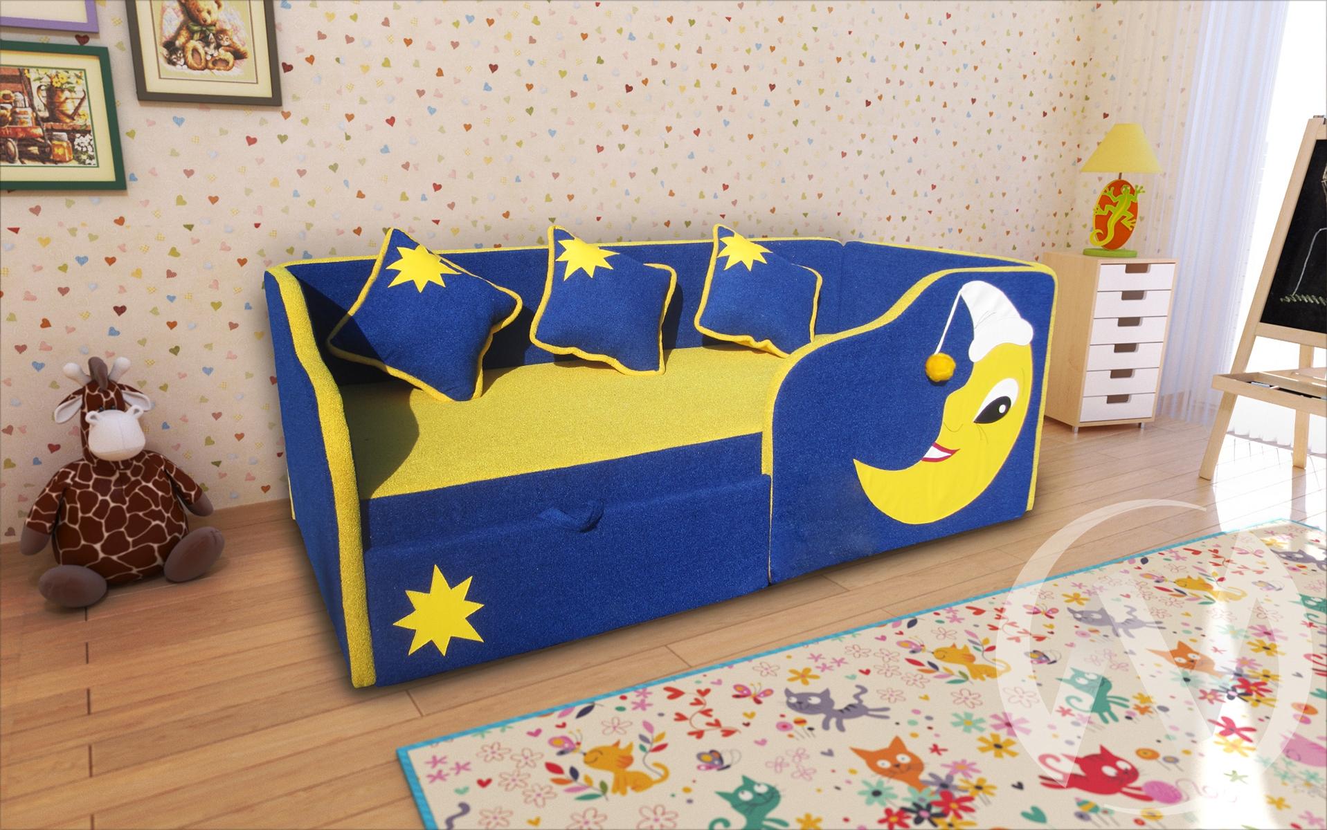 Спейс диван детский правый  в Томске — интернет магазин МИРА-мебель
