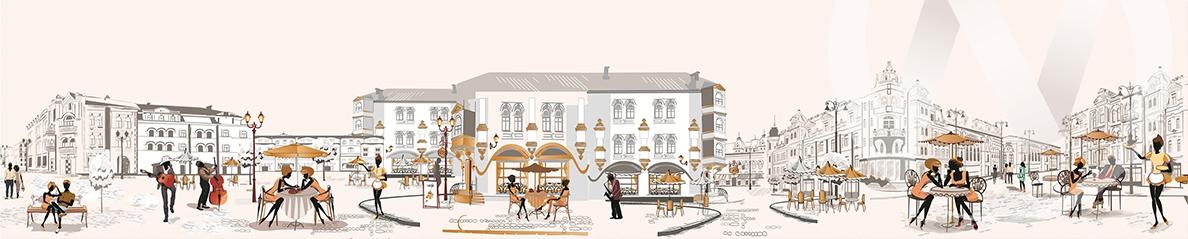 Панель декоративная ХДФ 610*2440*3 Дневные города (1002)  фф(299)