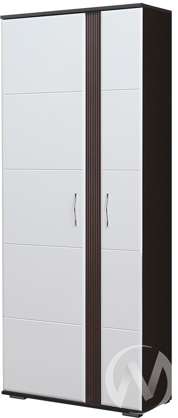 Стелла М-1 Шкаф (венге-белый глянец)